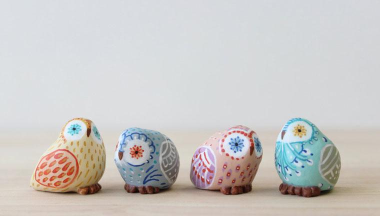 擅长制作各种动物造型的粘土小玩偶